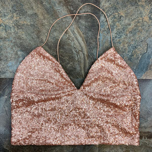 Urban Outfitters Rose Gold Crop Top Sz L